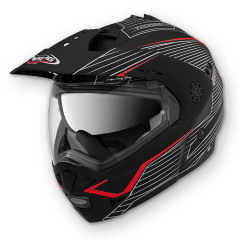 CABERG Шлем TOURMAX SONIC matt black/red